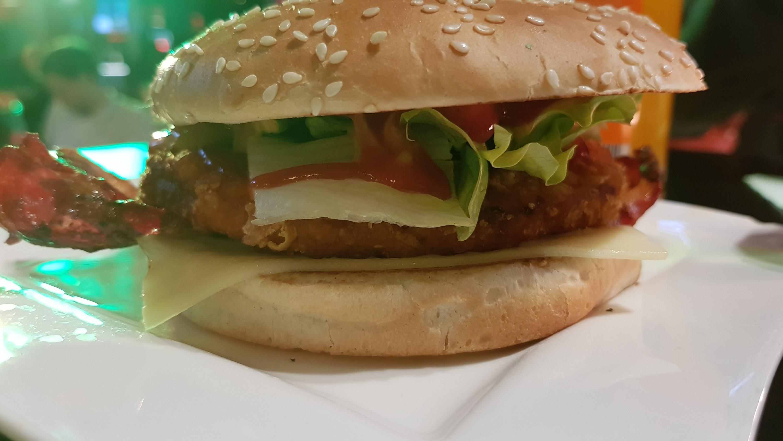 Chicken Burger Bacon Cheese